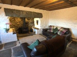 Comfortable Lounge with Inglenook Fire and Logburner